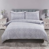 Kasumi Duvet Cover and Pillowcase Set - Stone Blue / King