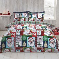 Santa Duvet Cover and Pillowcase Set - Double
