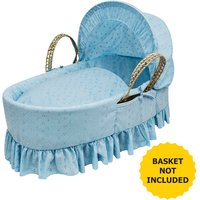 Broderie Anglaise Blue Moses Basket Bedding Set