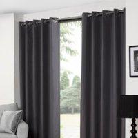 'Melissa Blackout Curtains - Grey / 137cm / 117cm