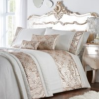 Krista Duvet Cover and Pillowcase Set - Rose Gold / Double