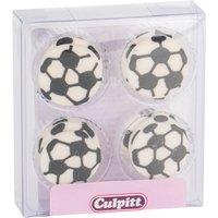 Pack of 12 Decorational Sugar Pipings - Footballs