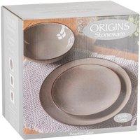 12 Piece Opal Origins Dinner Set - Pebble Grey