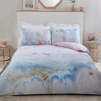 Unicorn Marble Duvet Cover and Pillowcase Set - Double