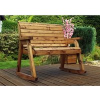 Charles Taylor Bench Rocker with Cushions - Redwood/Green
