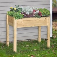Garden Wooden Planter Container - Natural Wood Color / 46cm