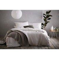 Aspect Duvet Cover and Pillowcase Set - White / King