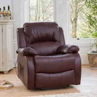 Copthorne Electric Riser Recliner with Massage and Heat - Red