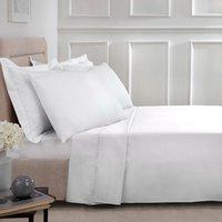 180 Thread Count Cotton Flat Sheet - White / Single