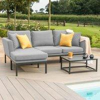 Maze Rattan Pulse Chaise Sofa Set - Grey