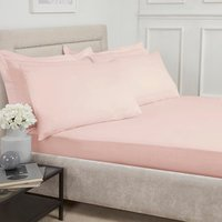 Polycotton Flat Sheet - Blush Pink / King