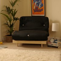 Black 2ft6 Luxury Futon Sofa Bed