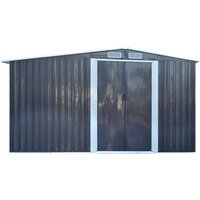 Metal Garden Shed Outdoor Storage - Black / 206cm