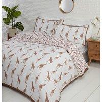 Giraffe Duvet Cover and Pillowcase Set  - King