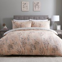 Evelyn 200 Thread Count Duvet Cover and Pillowcase Set - Apricot / Double
