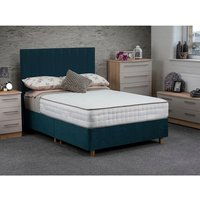 Jonas and James Osbourne Non Storage Divan Bed With Mattress - Ocean / Single