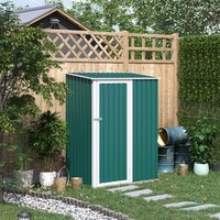 Corrugated Garden Metal Storage Shed  - Green