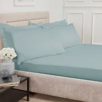 Polycotton Fitted Sheet - Duck Egg / King