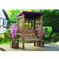 Charles Taylor Bramham 2 Seater Arbour With Cushions - Burgundy