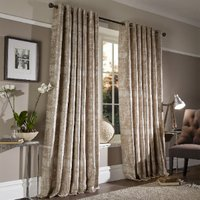 Kensington Jacquard Gold Eyelet Curtains - 137cm / 168cm