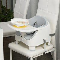 Baby Booster Seat for Dining Portable Feeding Chair - Grey