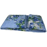 Beautiful Printed Quilted Bedspread Throw - D337