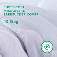 Seersucker 10.5 Tog Duvet With Micro-Fresh - White / Super King size