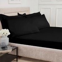 Polycotton Fitted Sheet - Black / Single