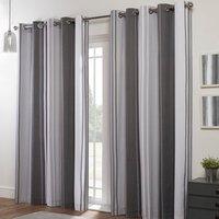 Richmond Grey Eyelet Curtains - Grey / 137cm / 168cm
