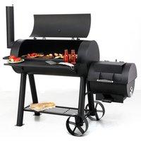 Premium Charcoal Offset BBQ Pit Smoker Milwaukee - B