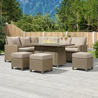 Left Firepit Corner Set-Willow