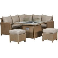 Compact Firepit Corner Set-Willow