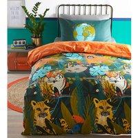 Endangered Animals Duvet Set  - Orange/Multi / Double
