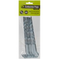 Summit Corkscrew Peg Pack - Silver