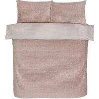 Sparkle Fleece Duvet Cover and Pillowcase Set - Blush / Single