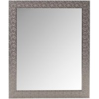Mosaic Effect Silver Mirror - Silver