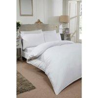 Pom Pom Trim Duvet Cover and Pillowcase Set - White / Single