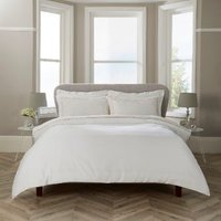 Aldgate Oxford Stitch Duvet Cover and Pillowcase Set - White / Double