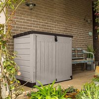 Keter Store It Out Pro Outdoor Plastic Storage Shed - Beige and Brown