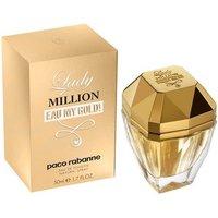 Paco Rabanne Lady Million Eau My Gold Eau de Toilette Womens Perfume Spray - Gold