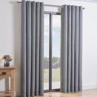 Taylor Eyelet Curtains   - Silver / 137cm / 168cm