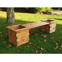 Charles Taylor Planter Bench - Redwood
