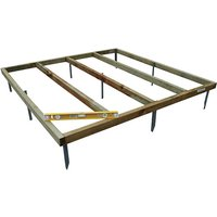 Shed Base With Metal Spikes For Overlap Shed - 4x3