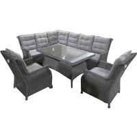 Skiathos Rattan Corner Dining Sofa Set