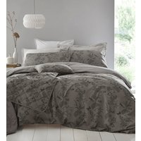 Arboretum Duvet Cover and Pillowcase Set - Pewter / Double