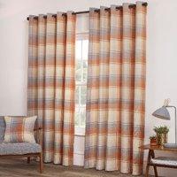 Mckinley Eyelet Curtains - Terracotta / 168cm / 137cm