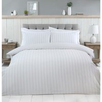 Thurlestone Stripe Duvet Cover and Pillowcase Set - Grey / Super King