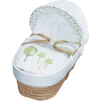 Three Little Birds Moses Basket with Natural Little Gem Rocking Stand