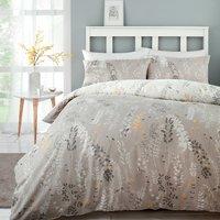Meadow Haze Ochre Printed Duvet Cover and Pillowcase Set - Double