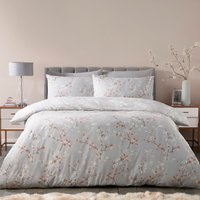 Sakura 180 Thread Count Duvet Cover and Pillowcase Set - Rose / King